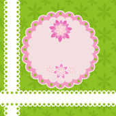 Greeting card with flowers. — Stock Vector