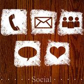 Vector social icons. — Stock Vector