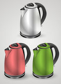 Vector set of electric kettles. — Stock Vector