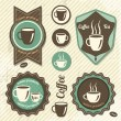 Vintage Retro Coffee stamp — Stock Vector
