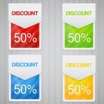 Discount labels. — Stock Vector
