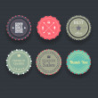 Retro vintage badges and labels. — Stock Vector