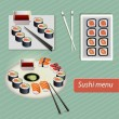 Sushi japanese food — Stock Vector