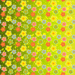Vector background with flowers. — Stock Vector