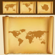 Old map of the world — Stock Vector