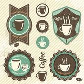 Vintage Retro Coffee stamp — Stock Vector