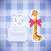 Greeting card giraffe. — Stock Vector