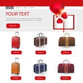 ウェブサイトのデザイン テンプレート — ストックベクタ
