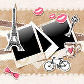 Paris doodles — Vector de stock