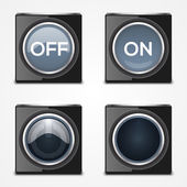 On, Off buttons. — Stock Vector