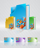 Vector set of abstract folders. — Stock Vector