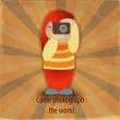 Royalty-Free Stock Vector Image: Girl with camera.