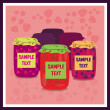Jars of jam — Stock Vector