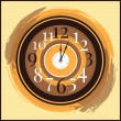 Stock Vector: Vector vintage clock