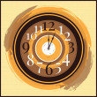 Vector vintage clock — Stock Vector #24361443