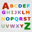 Sticker font - letter from A to Z — Stock Vector