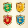Currency signs - Stock Vector