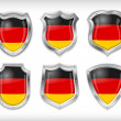 German flag icons theme — Stock Vector