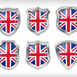 Great Britain flag icons theme — Stock Vector