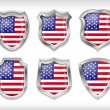USA flag icons theme — Stock Vector