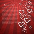 Royalty-Free Stock Imagen vectorial: Retro background with  hearts