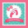 Baby arrival card. - Stock Vector