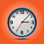 Wall mechanical clock. — Stock Vector