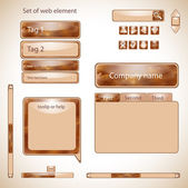 Vector set of web elements. — Stockvector