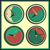 Vector vintage clock — Stock Vector