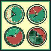 Reloj vintage vector — Vector de stock