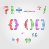 Punctuatian marks quilt — Vecteur