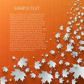 Létající podzimní listí pozadí — Stock vektor