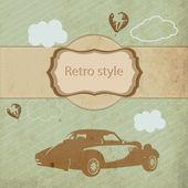 Vintage sports car — Stock Vector