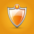 Royalty-Free Stock Vector Image: Orange glossy shield