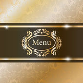 Illustration of graphic element for menu — Stok Vektör