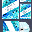 Corporate Identity kit or business kit - Stock Vector