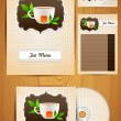 Corporate Identity tea menu — Stock Vector