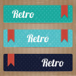 Set of retro tags — Stock Vector