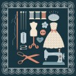Craft icons - Sewing Icons for sewing, crafts — Stok Vektör