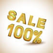 Sale 100 percent - Stock Vector