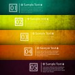 Colorful number option banners — Stock Vector