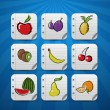 Set of fruits and vegetables icons — Image vectorielle