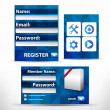 Royalty-Free Stock Imagen vectorial: Vector registration form