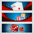 Vector illustration poker gambling chips poster — Stock Vector