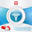 Medicine and Health Care signs — Stock Vector