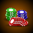 Casino chips stacks — Stock Vector