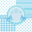 Royalty-Free Stock Immagine Vettoriale: Vector set of circle frame and 4 seamless background patterns
