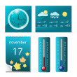 Set of weather icons — Stockvectorbeeld