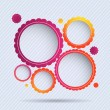Royalty-Free Stock Imagen vectorial: Collection of circle frames