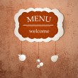 Royalty-Free Stock Imagen vectorial: Vintage frame menu design template